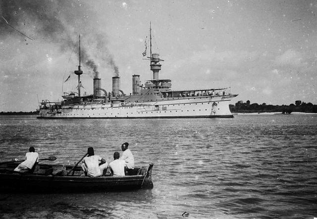 SMS Hertha at Dar-Es-Salaam