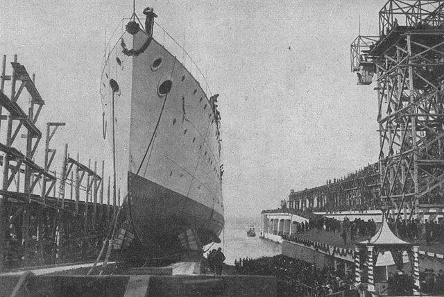 Launch of SMS Novara in 1913