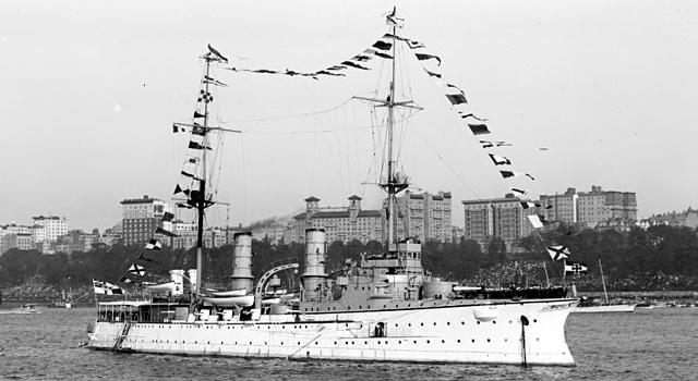 SMS Victoria Luise in the Hudson River