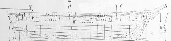 A Razee after conversion, USS Cumberland