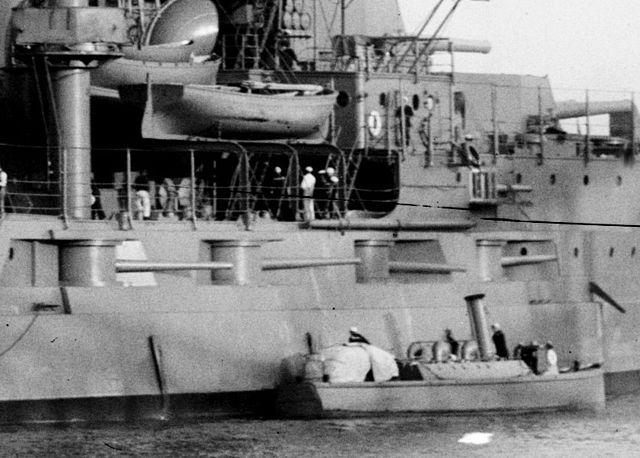starboard forward battery 5-in guns USS Utah