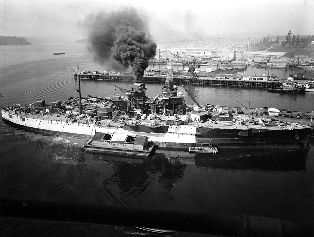USS Utah - AG-16 painted at Puget Sound in 1941