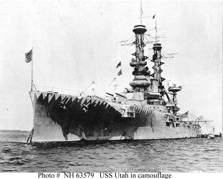 USS Utah camouflaged