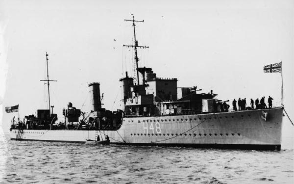 HMCS Fraser in 1937