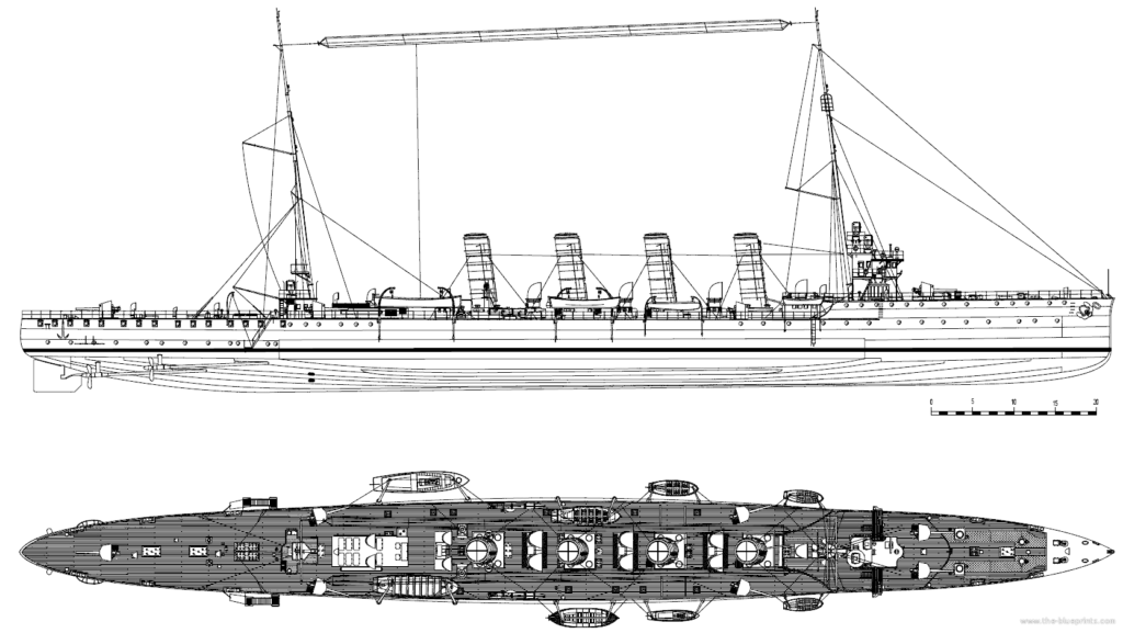 HD blueprint of the Admiral Spaun