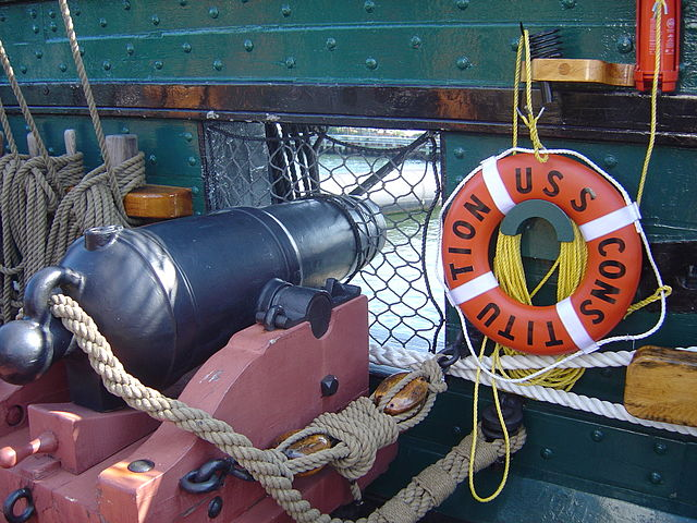 uss constitution carronade on the spardeck