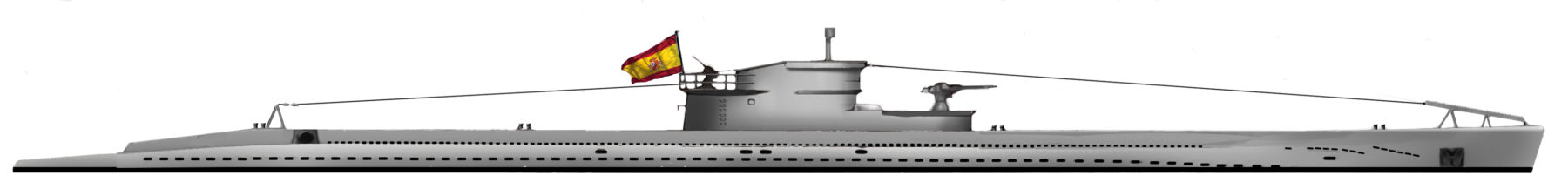 HD reconstruction D-type submarines
