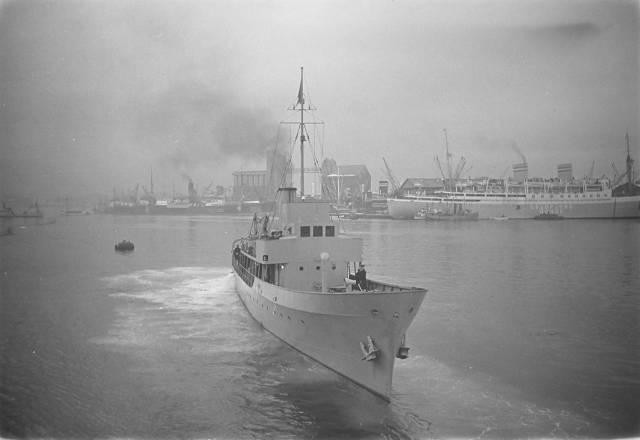 HNoMS Otra testing at Nyland shipyard