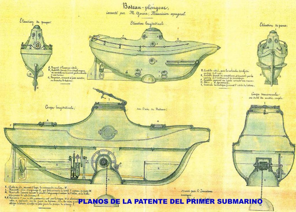 Cosme Garcia submarine design