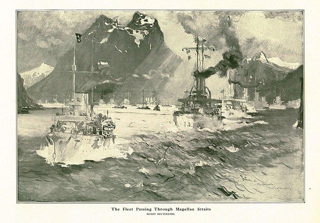 the great white fleet through Magellan strait