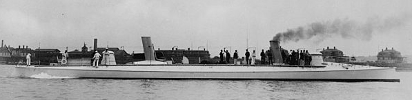 USS Cushing, starboard side, 1891