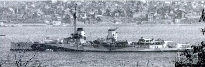 Yavuz in Istambul in April 1946