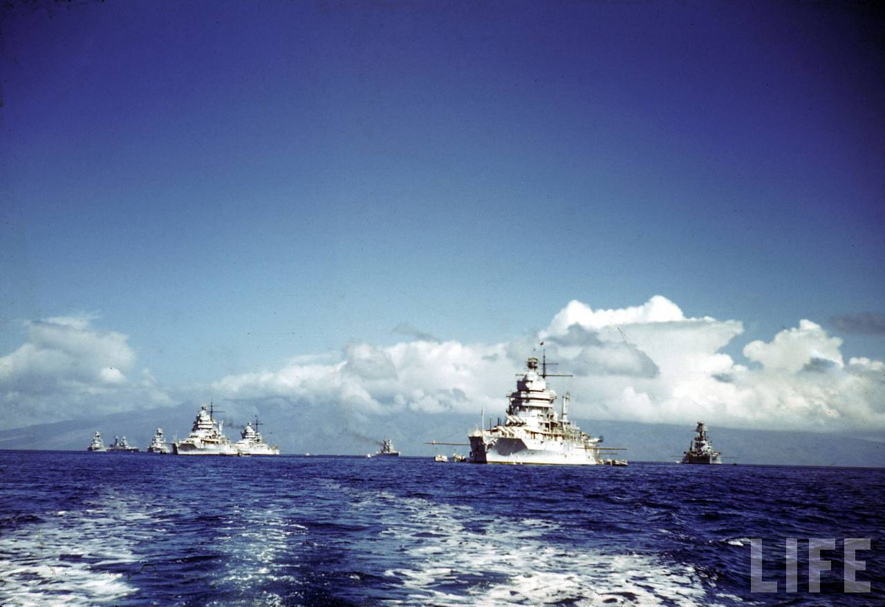 USN Battle fleet in 1941 - LIFE