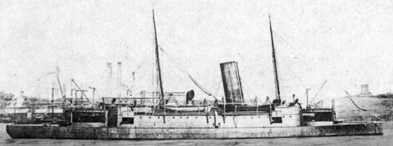The 1880 Chinese cruiser Chaoyong, British-built for the Beiyang fleet