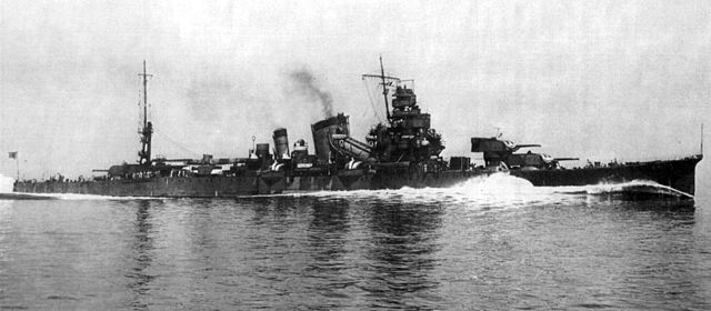IJN Furutaka making her sea trials in 1939