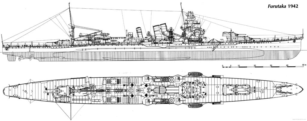 The Furutaka in 1942 - HD blueprint