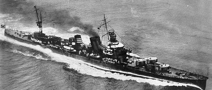 IJN Kako at full speed in Tokyo Bay, 1928
