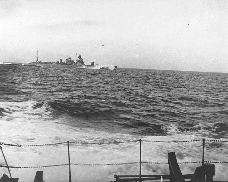 IJN Kako seen from another ship in 1940
