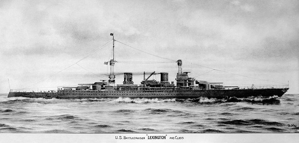 USS Lexington - final configuration 1919