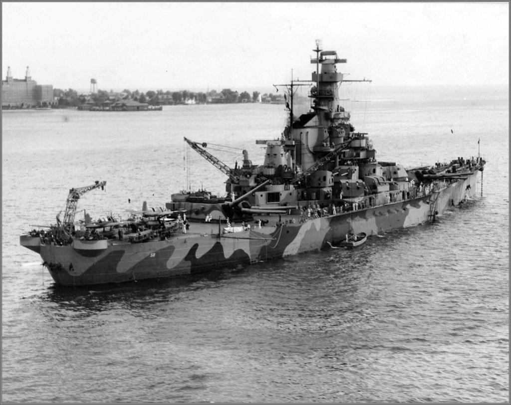 USS Alabama, camouflaged
