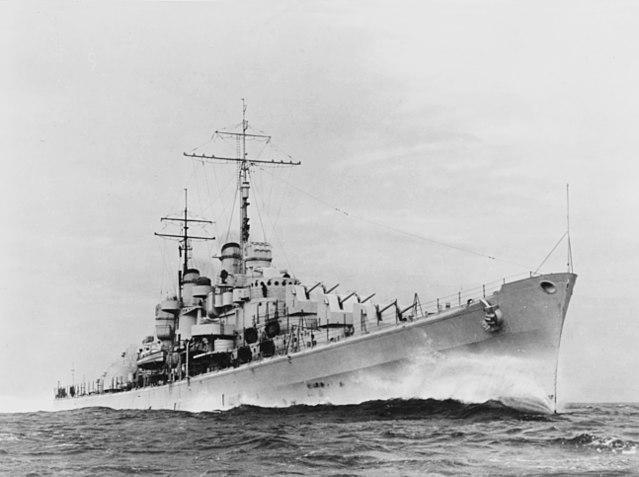 USS Atlanta in speed trials, November 1941