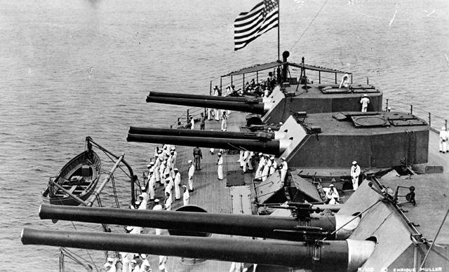 turrets on USS Delaware