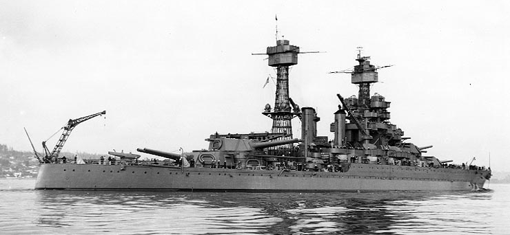 USS Maryland in 9 February 1942