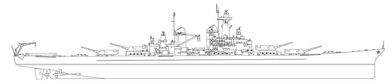 Line drawing of the ships, if built