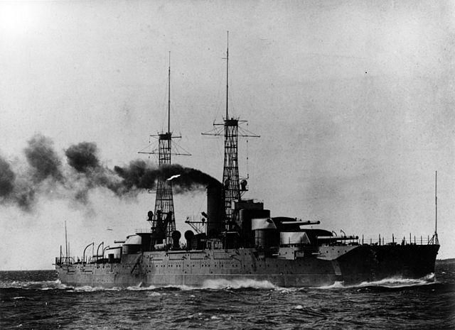 USS Nevada in trials, 1916