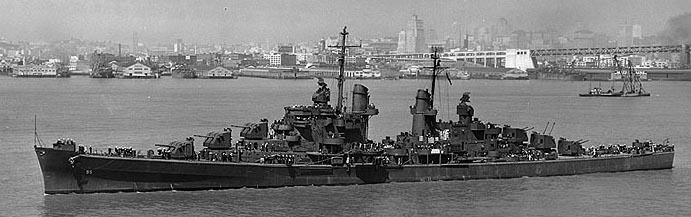 USS Oakland in San Francisco Bay, 2 August 1942