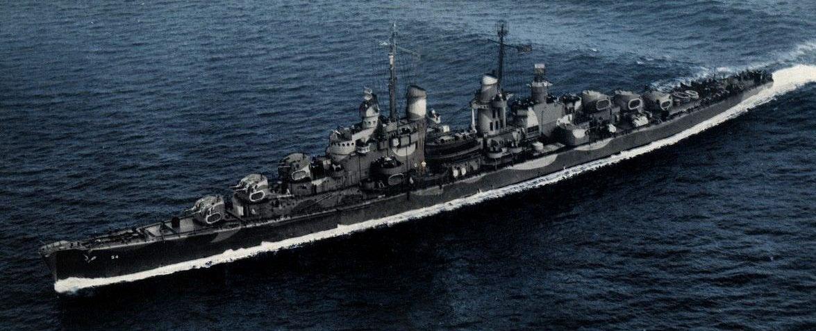 USS San Juan, colorized, underway in 1942