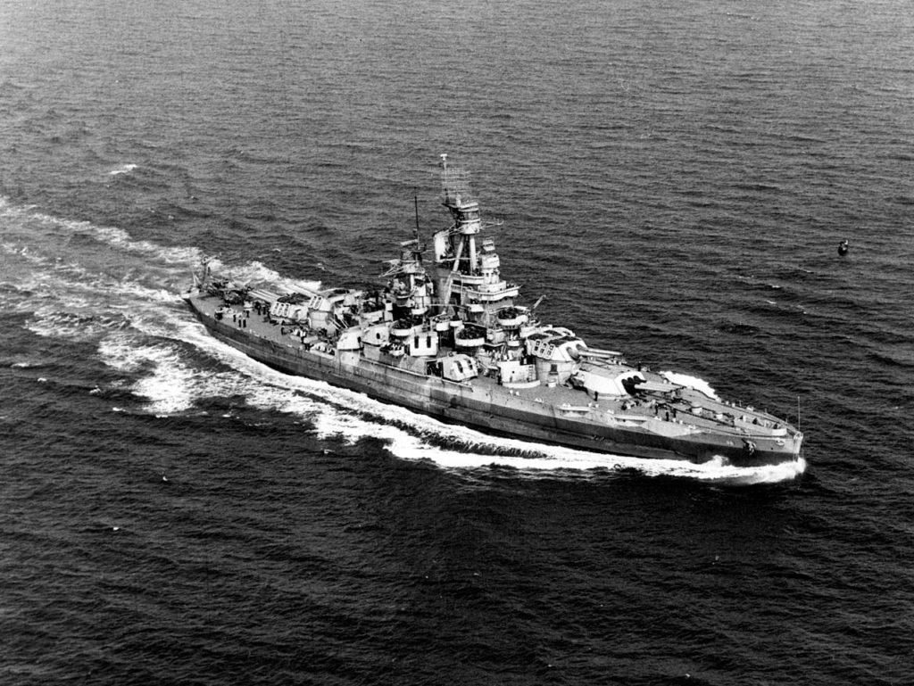 USS Nevada in 1945