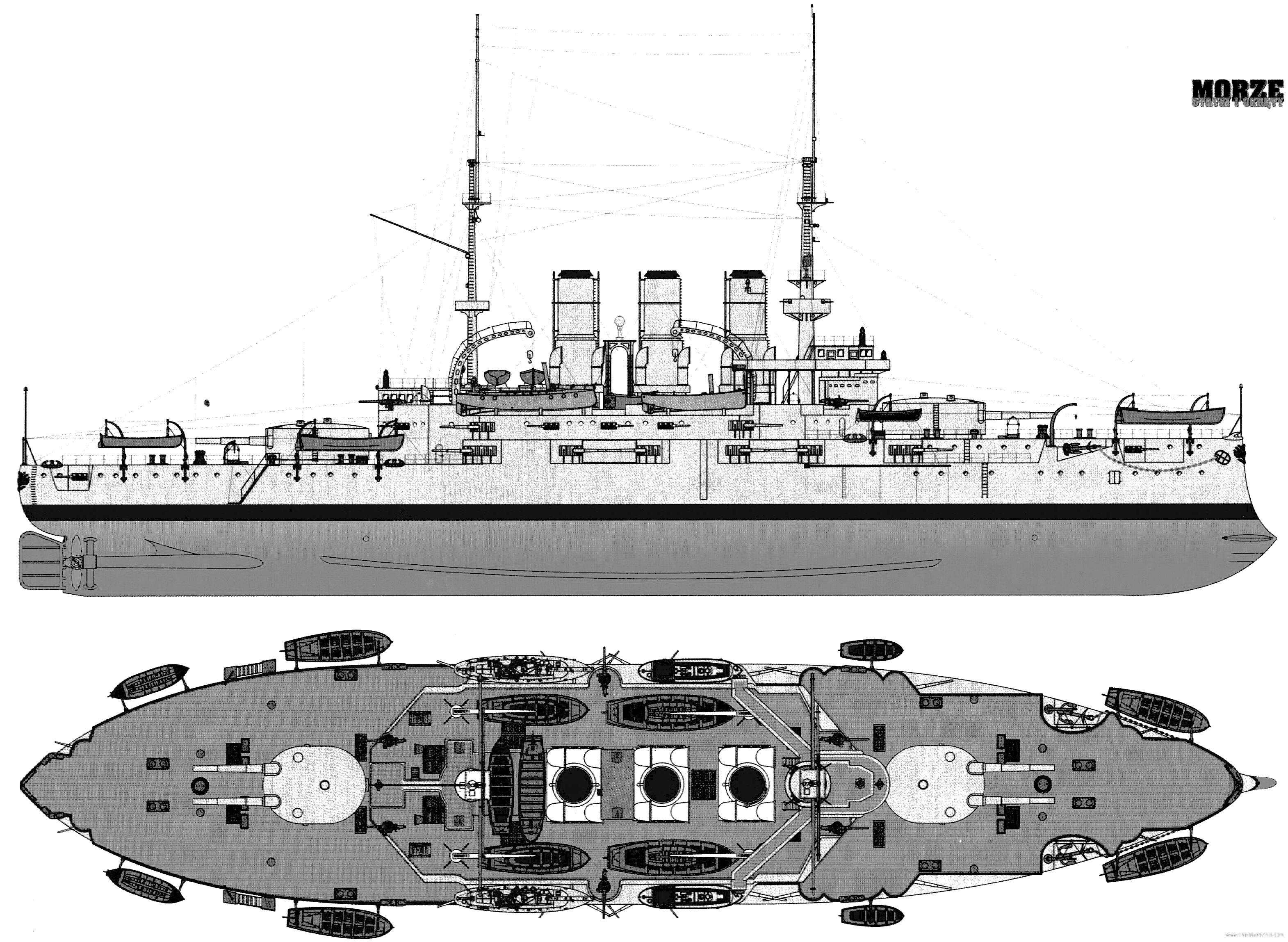 Blueprint of the Potemkine