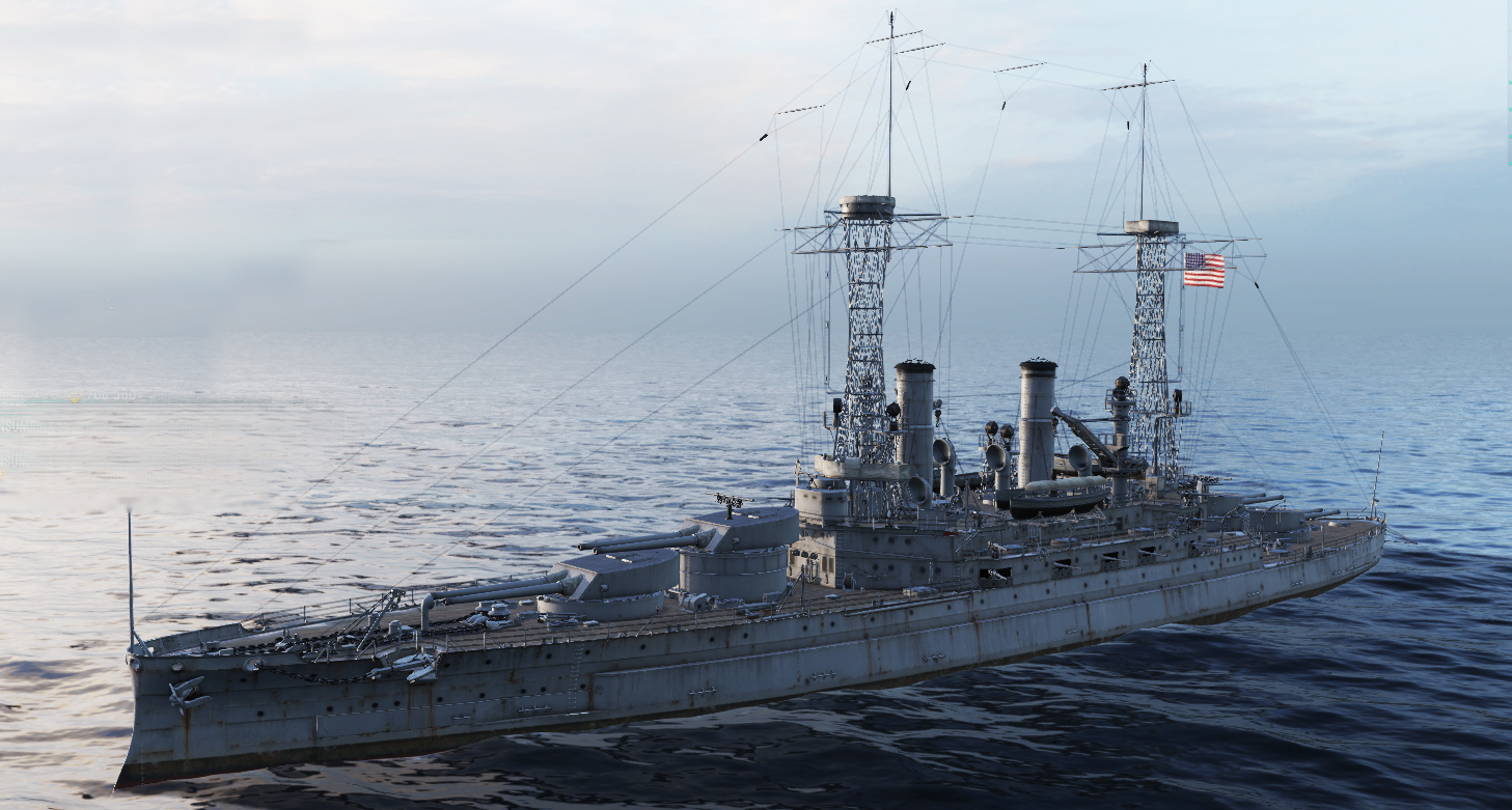 WoWs rendition of USS South Carolina