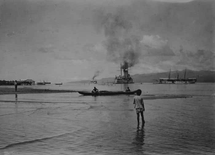 HNLMS Zeeland in the Malukku atoll in Indonesia