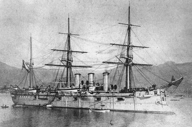 Pamiat Azova as repained in Asia in light greyish-pink hue