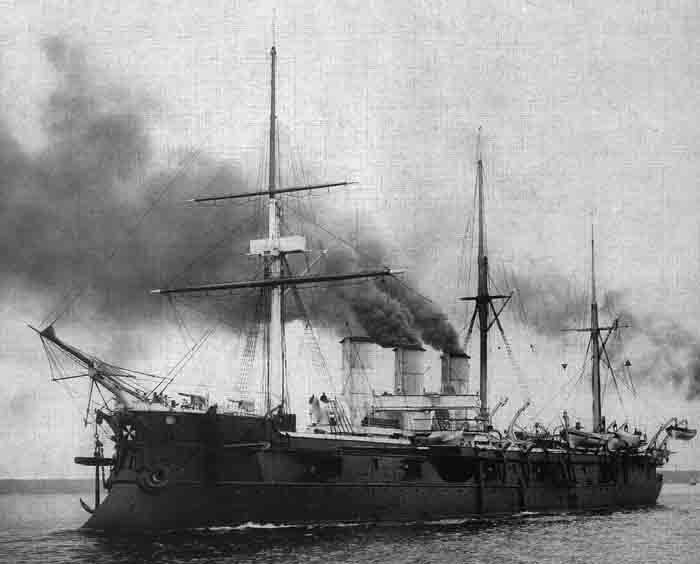 Azova steaming up in 1902