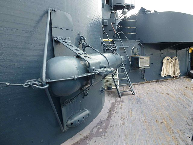paravane on board USS Texas