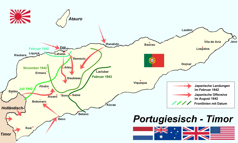 Timor invasion in WW2