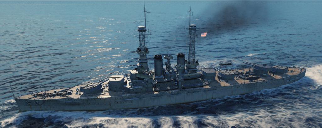 USS Wyoming at sea