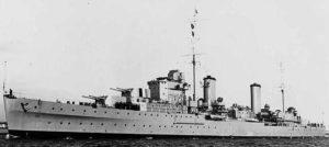 HMS Aurora in 1938