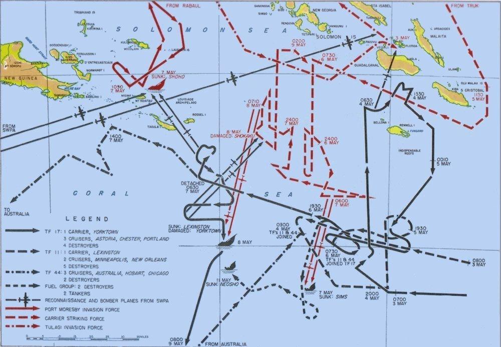 Coral Sea Battle May 1942