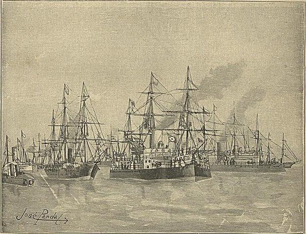 The Rebel fleet sailing to Rio