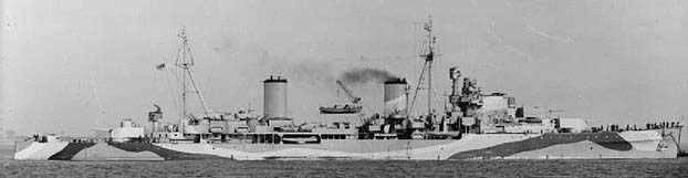 Arethusa in April 1942