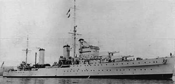 HMS Galatea in 1939