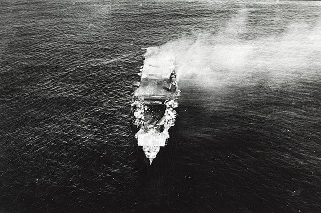 Hiryū before sinking