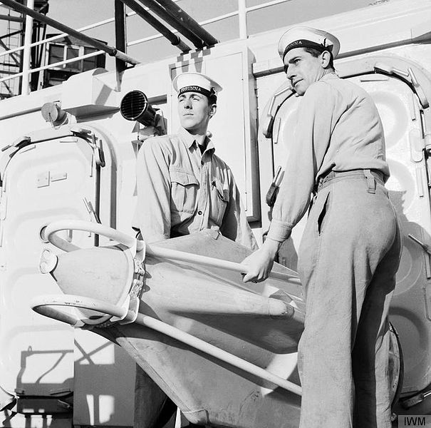 Seacat missile on HMS Corunna in 1961