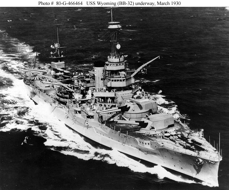 USS Wyoming in March 1930