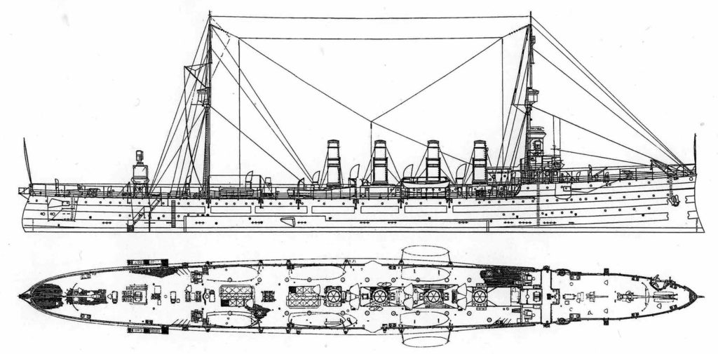 Blueprint of the cruiser
