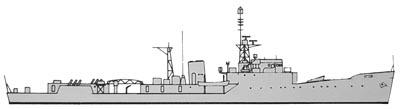 HMS Hardy in 1970